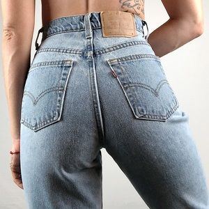 Vintage Levi's 521 1980's Tapered Jeans size 26